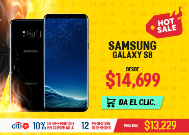 Elektra: Samsung Galaxy S8 64 GB a $13,229 con Citibanamex