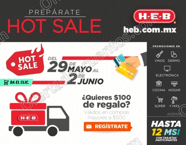 Promociones Hot Sale 2017 en HEB