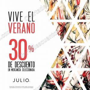 Julio: 30% de descuento en mercancía seleccionada de Verano del 22 de Mayo al 18 de Junio 2017