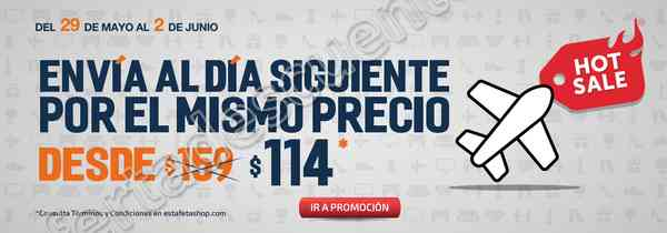 Promociones Hot Sale Estafeta 2017