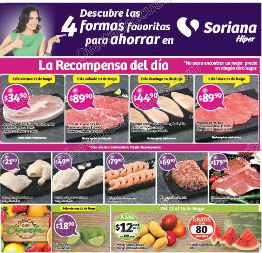 Soriana: Promociones Tarjeta Recompensas del 12 al 15 de Mayo 2017