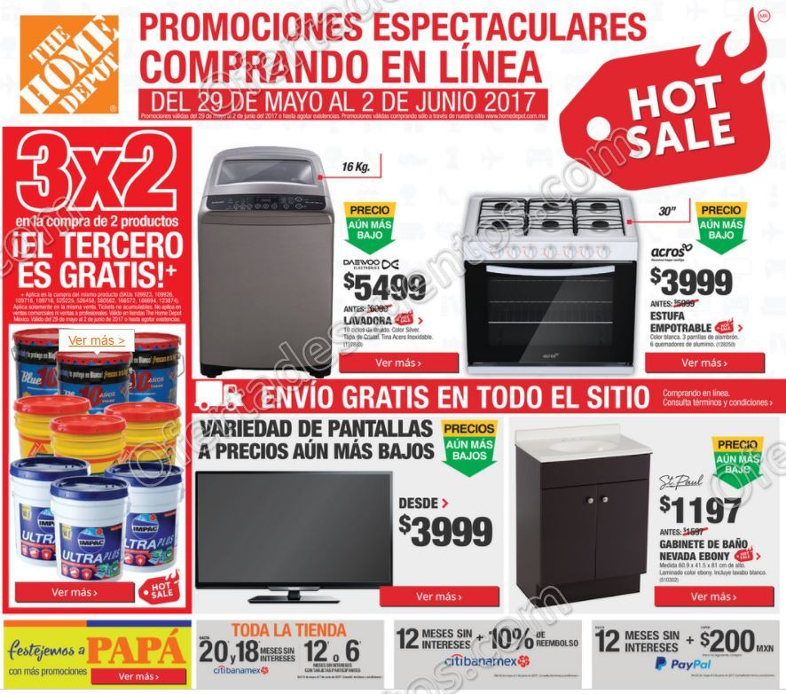 Hot Sale 2017 The Home Depot: Folleto de Promociones