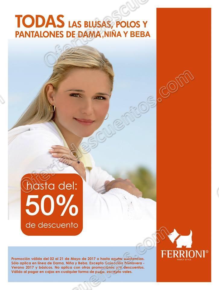 Ferrioni: Hasta el 50% de Descuento en Blusas, Polos y Pantalones Para Dama
