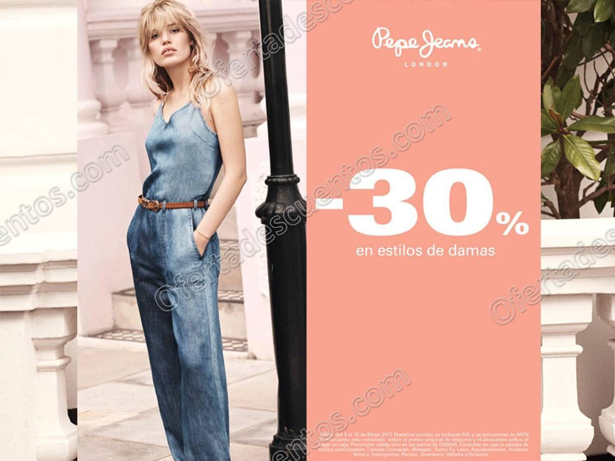 Pepe Jeans: 30% de descuento en Estilos para Dama al 10 de Mayo