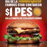 hamburguesa a un peso Carl jr OFFDE