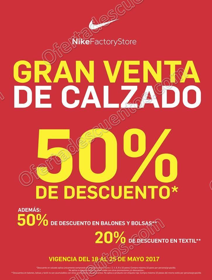 Nike Factory Store: Gran Venta con 50% de descuento en Calzado, Balones y Bolsas