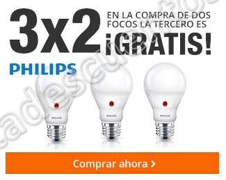 The Home Depot: 3×2 en focos Philips y más