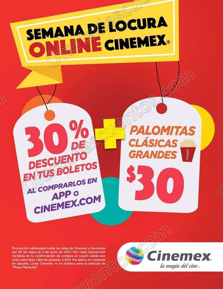 Cinemex: Semana de Locura Online del 28 de Mayo al 2 de Junio