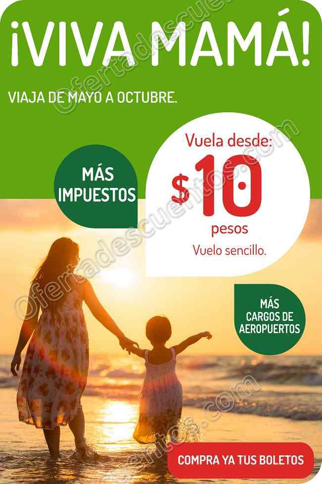 VivaAerobus: Vuelos Sencillos desde $10 más impuestos del 2 al 7 de Mayo
