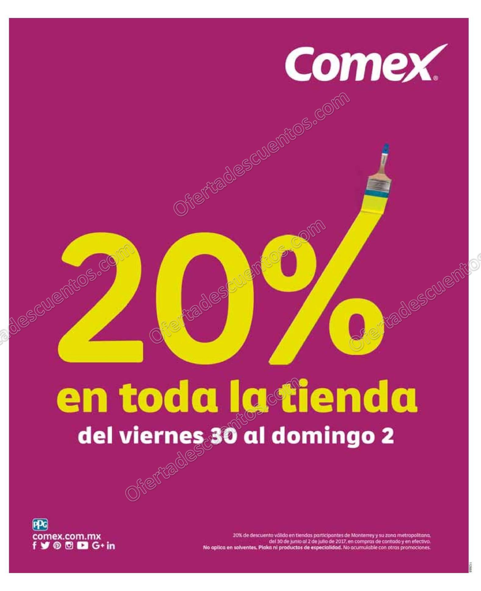 Comex: 20% de Descuento en Toda la Tienda