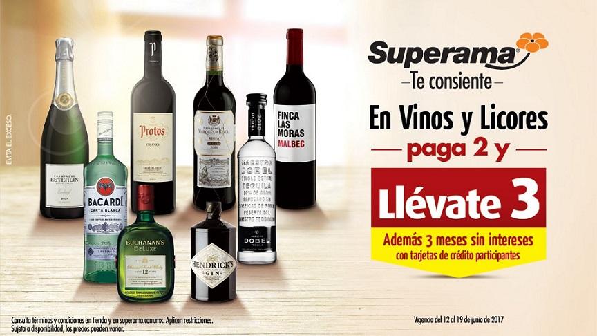 Superama: 3×2 en Vinos y Licores del 12 al 19 de Junio