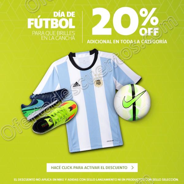 Netshoes: 20% de descuento adicional en toda la Categoría de Fútbol