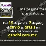Envio gratis en gandhi del 15 de junio al 2 de julio OFFDE