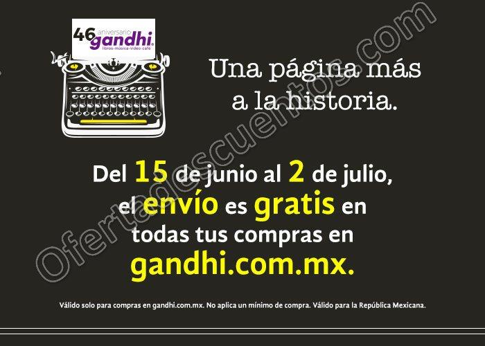 Gandhi: Promocines de Aniversario Envío Gratis y más del 15 de Junio al 2 de Julio 2017