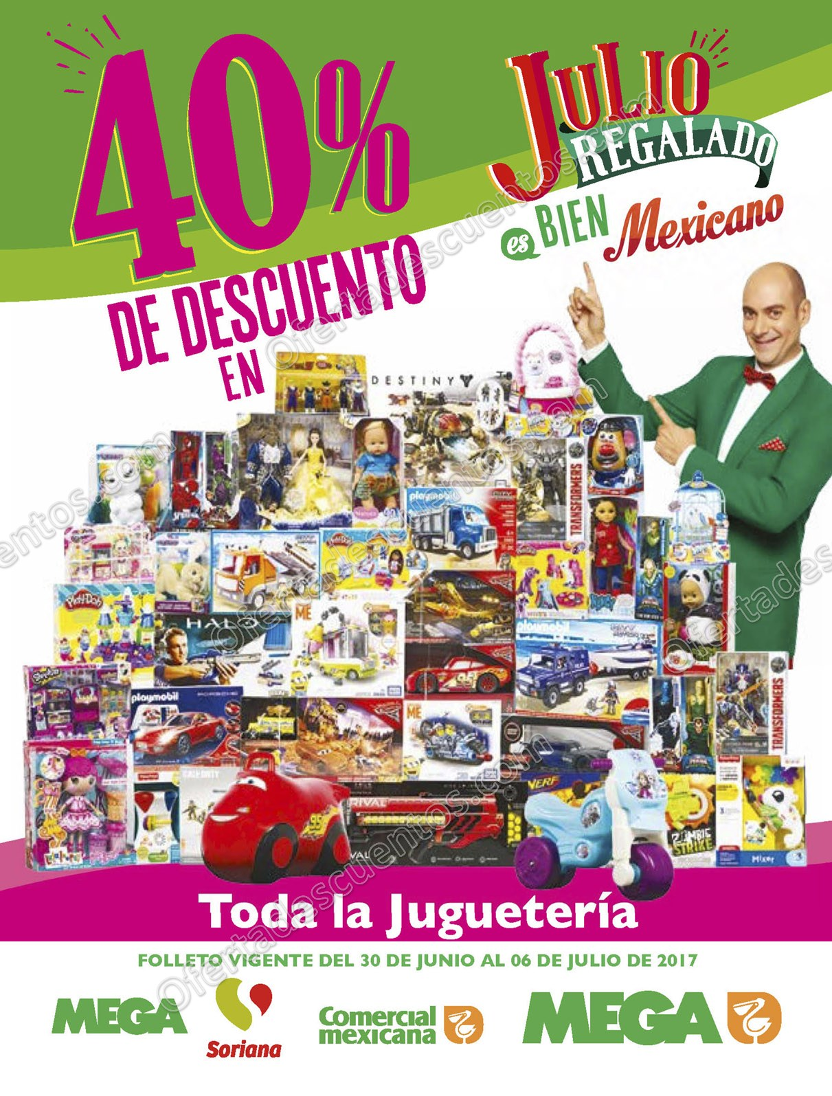 Julio Regalado 2017: Folleto de Ofertas del 30 de Junio al