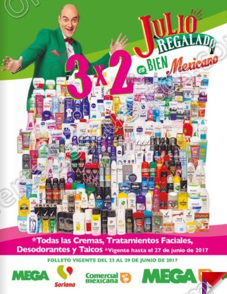 Folleto  Promociones Julio Regalado 2017 Comercial Mexicana y Soriana del 23 al 29 de Junio