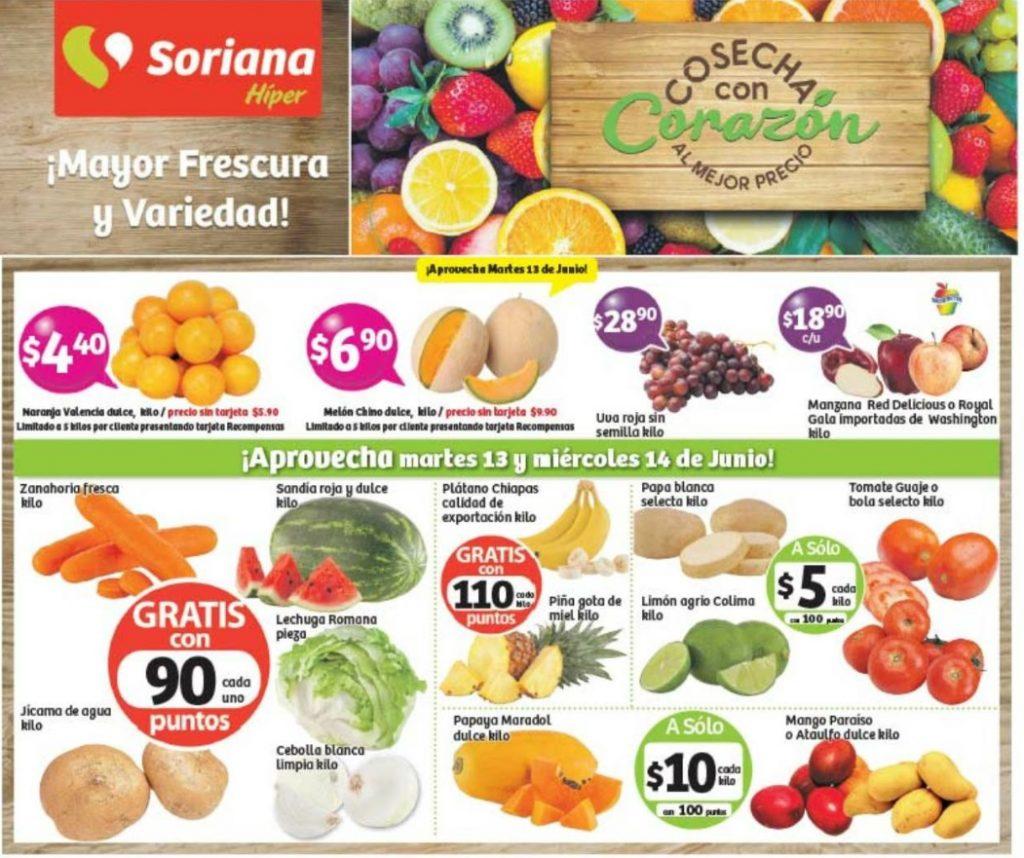 Frutas y Verduras Soriana 13 y 14 de Junio 2017