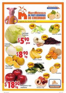 Frutas y verduras chedraui 13 y 14 de junio 2017