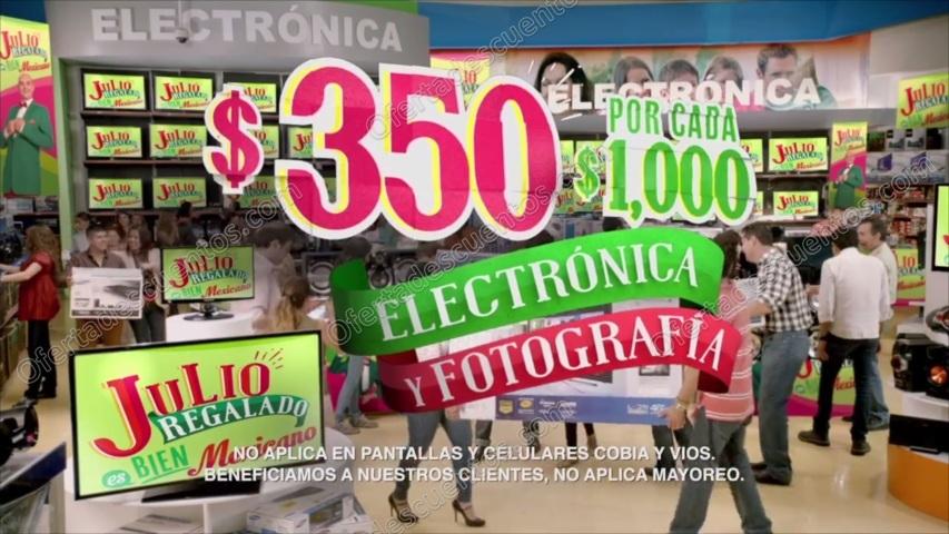 Julio Regalado 2017: $350 de descuento por cada $1,000 en Electrónica y Fotografía del 14 al 20 de Junio