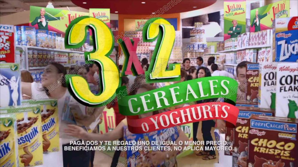 Julio Regalado 2017: 3×2 en todos los Cereales o Yogurts del 9 al 15 de Junio