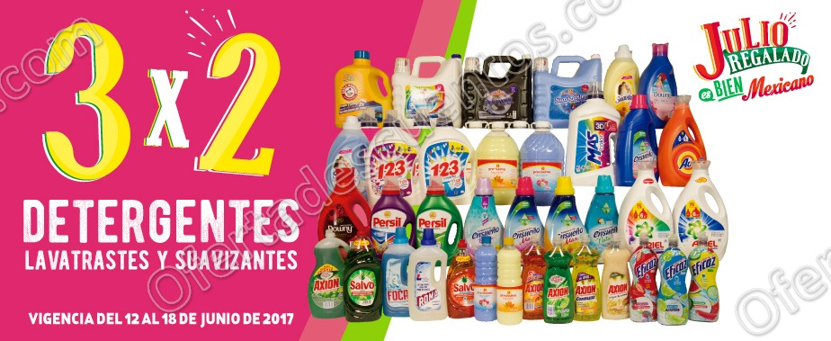 Julio Regalado 2017: 3×2 en Detergentes, Suavizantes y Lavatrastes del 12 al 18 de Junio