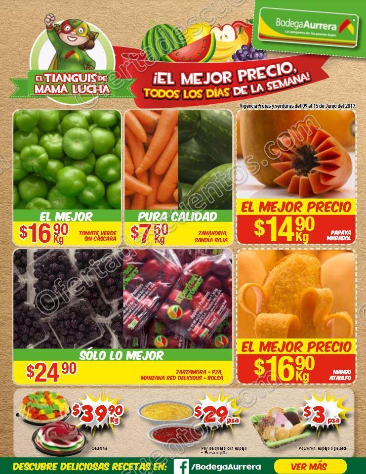 Bodega Aurrerá: Ofertas Frutas y Verduras del 9 al 15 de Junio