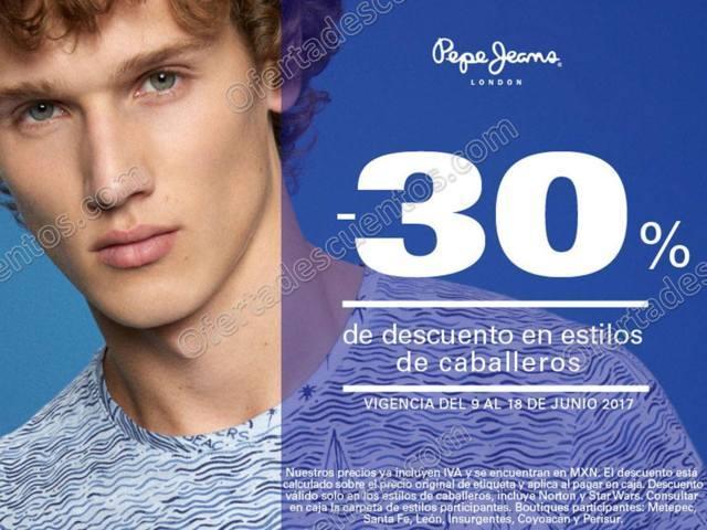 Pepe Jeans London: 30% de descuento en estilos de Caballeros del 9 al 18 de Junio