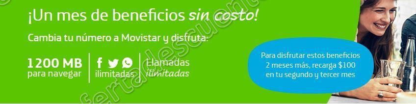 Movistar: Cámbiate a Movistar y recibe megas, llamadas y redes sociales ilimitadas Gratis por un Mes