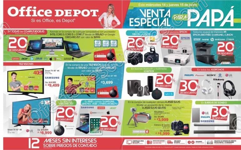 Venta Especial Para Papá Office Depot 14 y 15 de Junio 2017