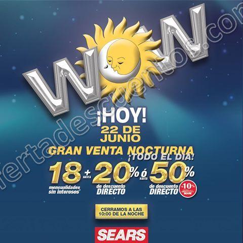 Sears: Venta Nocturna 22 de Junio 2017