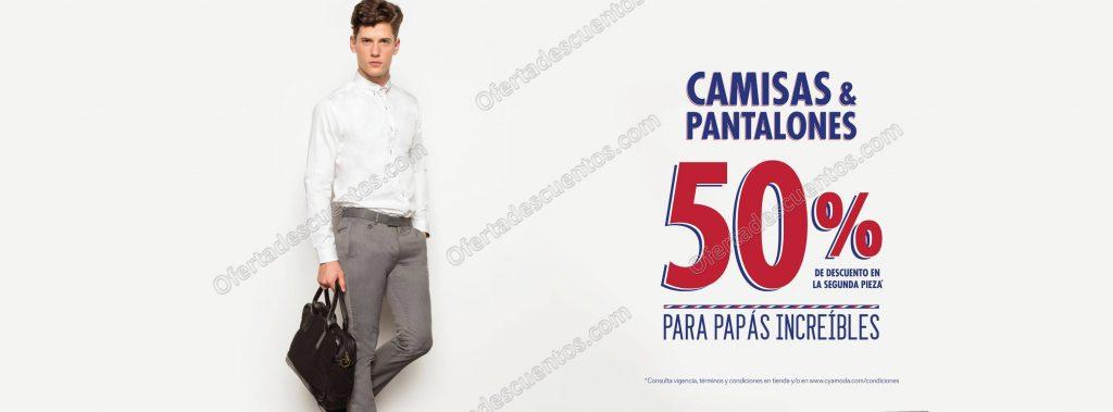 C&A: Camisas y Pantalones con 50% de descuento en segunda pieza
