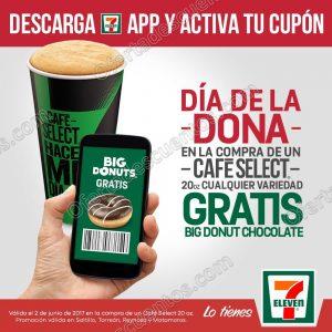 7Eleven: Promoción Día de la Dona Gratis Big Donut Chocolate sólo 2 de Junio