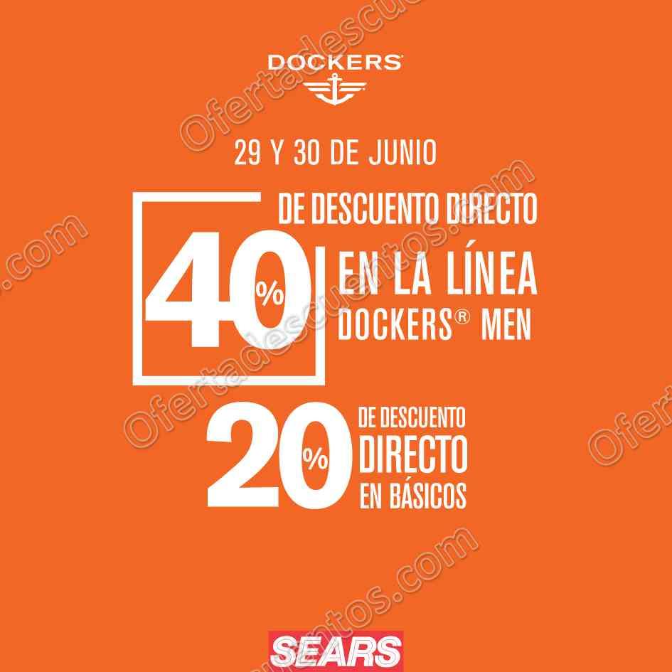 Sears: Dockers 40% de Descuento