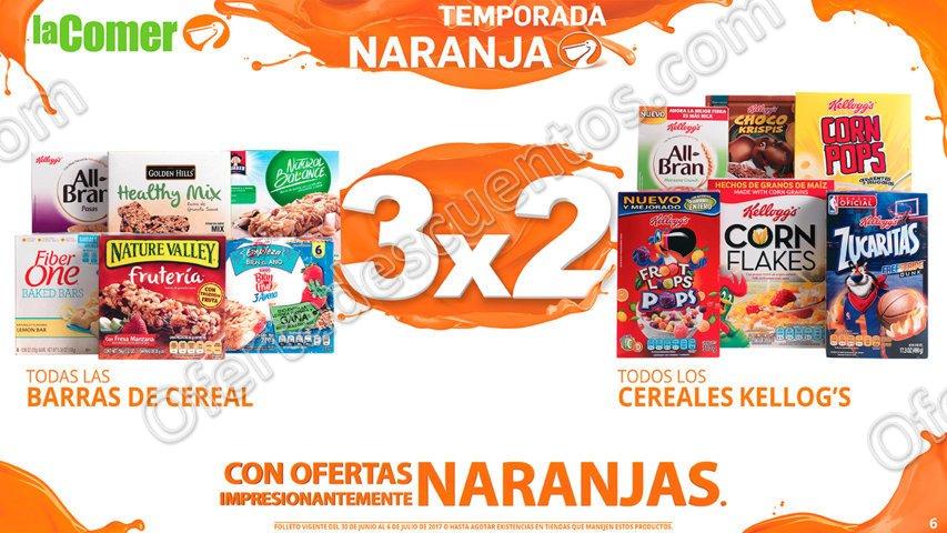 La Comer Temporada Naranja 2017: Folleto de Promociones del 30 de Junio al 6 de Julio