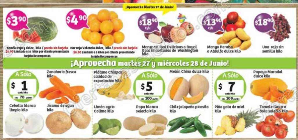 Frutas y Verduras Soriana 27 y 28 de Junio de 2017
