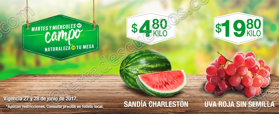 Frutas y Verduras del Campo Comercial Mexicana del 27 y 28 de Junio 2017
