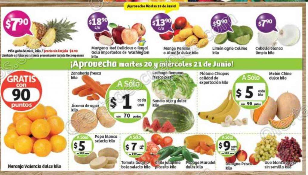 Frutas y Verduras Soriana 20 y 21 de Junio de 2017