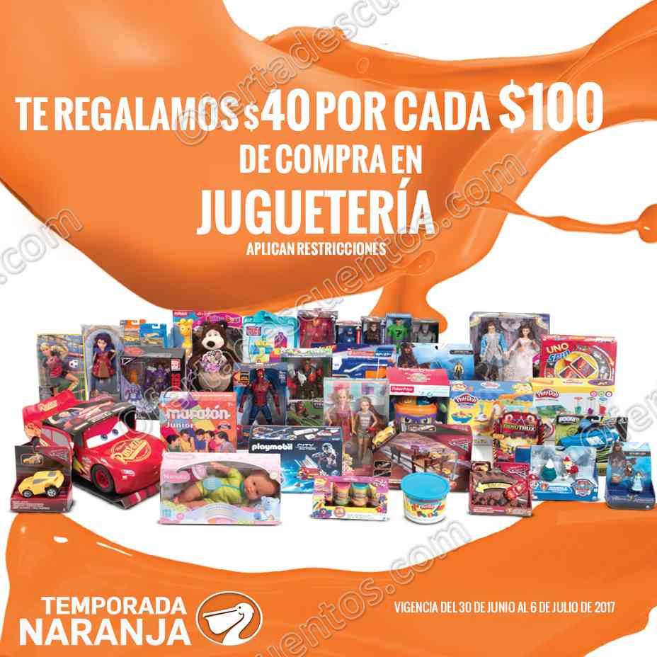 Temporada Naranja 2017: $40 de descuento por cada $100 en Juguetería y más del 30 de junio al 6 de Julio
