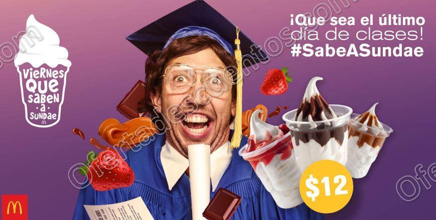 McDonald's: Cupon Sundae a $12 Pesos