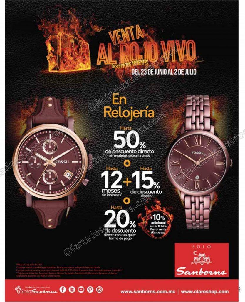 Sanborns: Venta al Rojo Vivo del 30 de Junio al 3 de Julio 2017