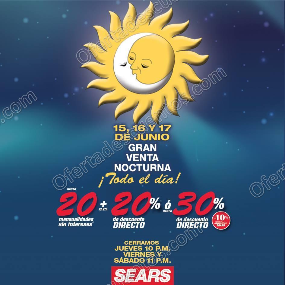 Venta Nocturna Sears del 15 al 17 de Junio 2017