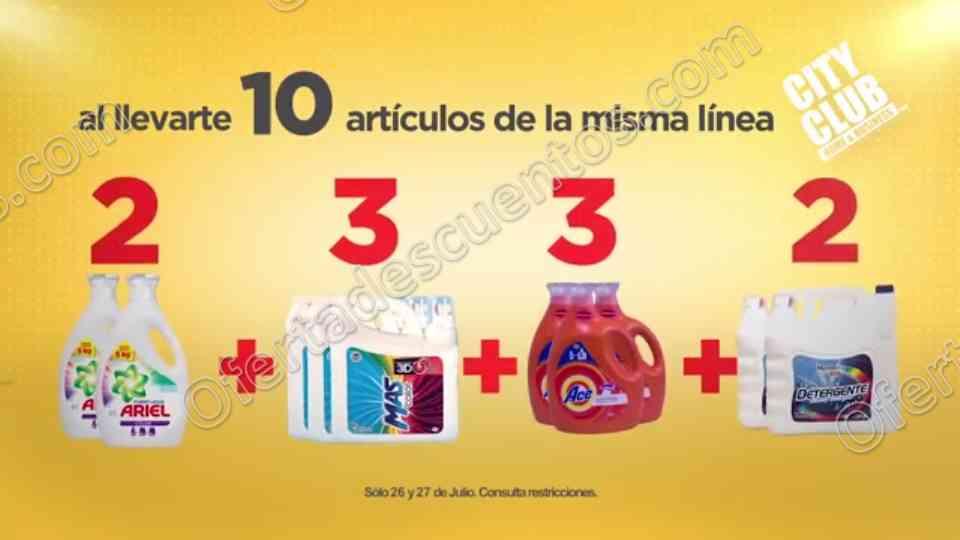City Club: 10% de Descuento al Comprar 10 Productos de la Misma Linea