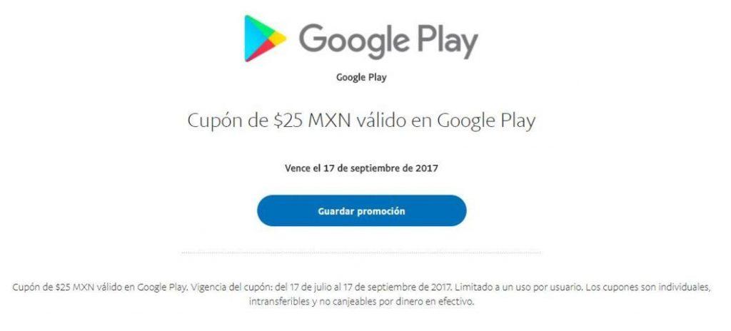 PayPal: Cupón de $25 Para Usar en Google Play