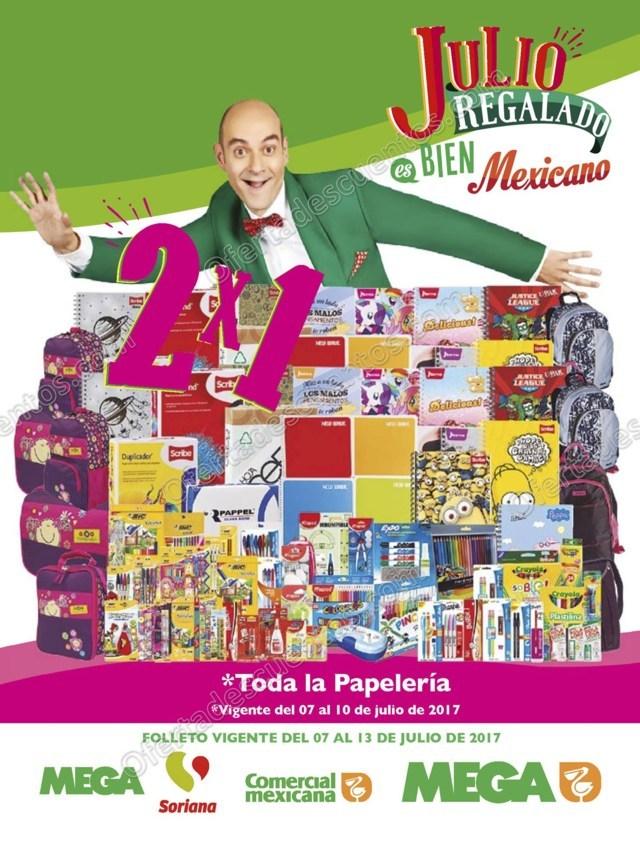Folleto Promociones Julio Regalado 2017 en Soriana, Comercial Mexicana y Mega del 7 al 13 de Julio