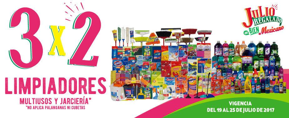 Julio Regalado 2017: 3×2 en Limpiadores Multiusos y Jercería 19 al 25 de Julio