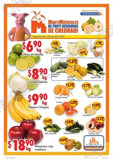 Frutas y Verduras Chedraui 4 y 5 de Julio de 2017