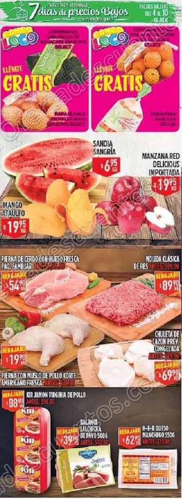 HEB: Ofertas en frutas y verduras del 4 al 10 de Julio 2017