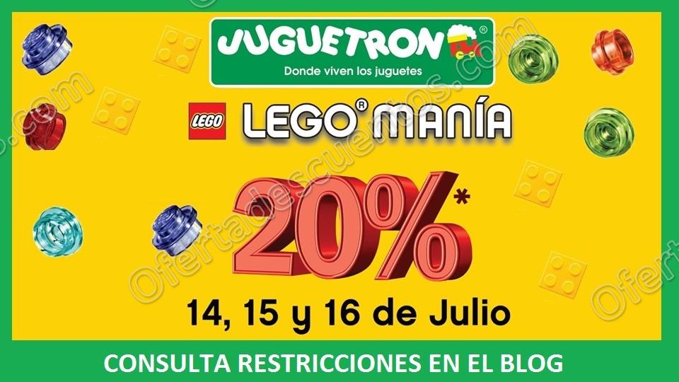 Juguetron: Legomanía 20% de descuento en toda la marca Lego del 14 al 16 de Julio 2017