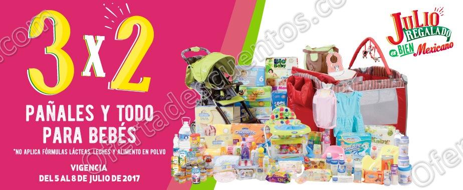 Julio Regalado 2017: 3×2 en Todos los Pañales y Todo Para Bebé del 5 al 8 de Julio