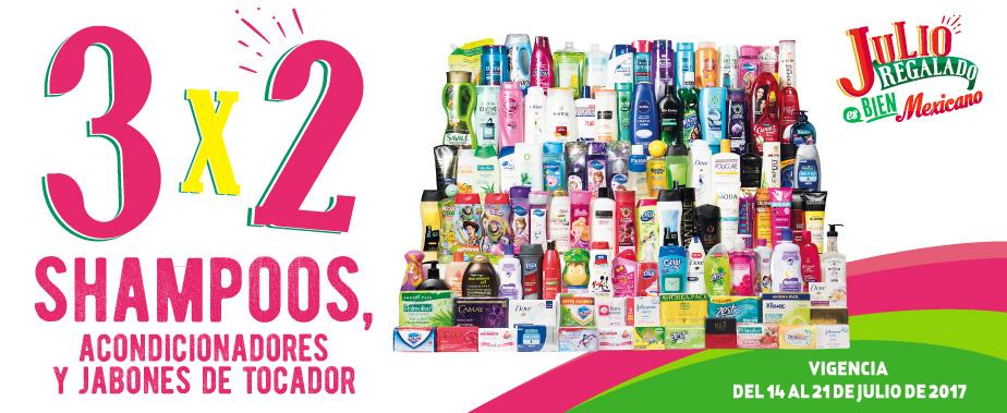 Julio Regalado 2017: 3×2 en Shampoos, Acondicionadores y Jabones de Tocador del 14 al 21 de Julio
